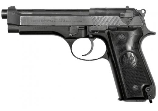 Оружие списанное охолощенное модели Beretta 92S-O